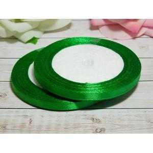 Атласная лента 6 мм, 23 м зеленый сочный