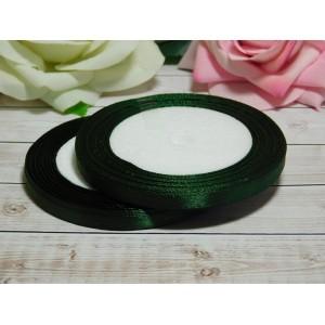 Атласная лента 6 мм, 23 м зеленый темный