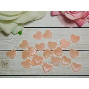 Фигурки из пластика Сердечко 14 мм, 100 шт. розовый