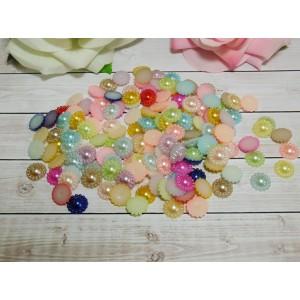 Фигурки из пластика Цветок 12 мм, 100 шт. микс