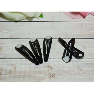 Заколка клик-клак 5 см, 50 шт. металл черный