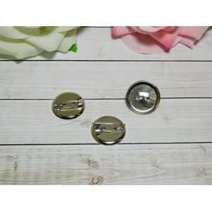 Основа для броши круг 23 мм, 50 шт. металл