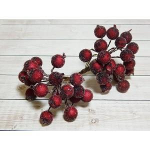 Ягоды сахарные, 40 шт. (1 связка) вишневый