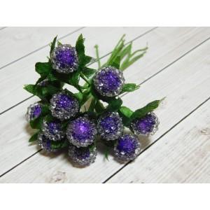 Ягоды сахарные в пучках, 12 шт. (1 пучок) фиолетовый