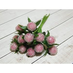 Ягоды сахарные в пучках, 12 шт. (1 пучок) розовый