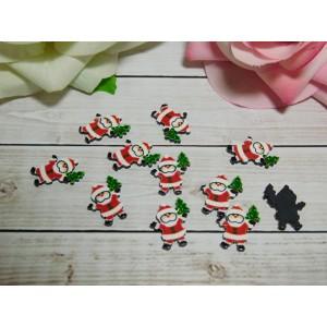 Фигурки из пластика 15*20 мм Дед Мороз , 50 шт.