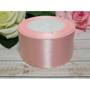 Атласная лента 50 мм, 23 м розовый нежный