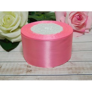 Атласная лента 50 мм, 23 м розовый яркий