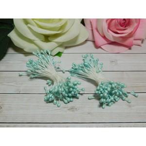 Тычинки гладкие 2-3 мм, 80 шт. голубой светлый