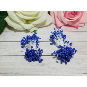 Тычинки гладкие 2-3 мм, 80 шт. синий