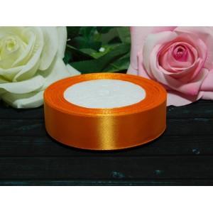 Атласная лента 25 мм, 23 м оранжевый
