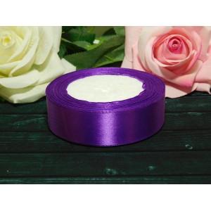 Атласная лента 25 мм, 23 м фиолетовый
