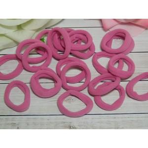 Резиночки для волос бесшовные 30 мм, 50 шт. розовый темный