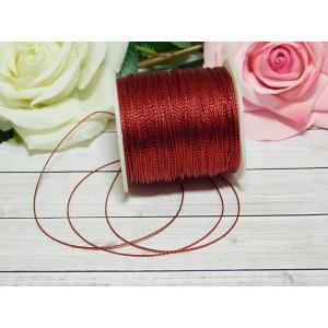 Шнур декоративный 1 мм, 100 м красный