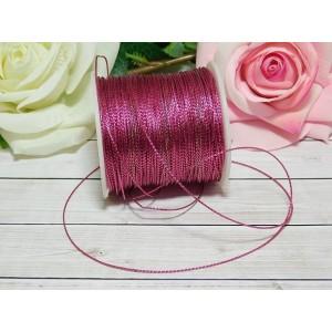 Шнур декоративный 1 мм, 100 м розовый