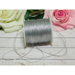 Шнур декоративный 1 мм, 100 м серебро