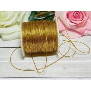 Шнур декоративный 1 мм, 100 м золото