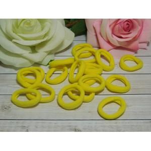 Резиночки для волос бесшовные 30 мм, 50 шт. желтый