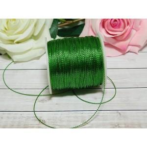 Шнур декоративный 1 мм, 100 м зеленый