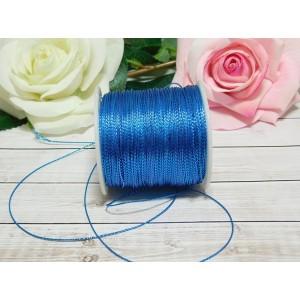 Шнур декоративный 1 мм, 100 м голубой яркий