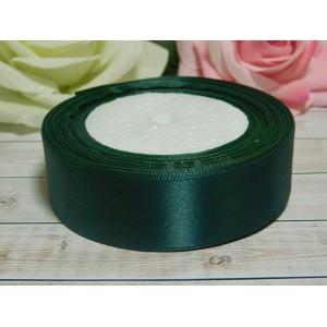 Атласная лента 25 мм, 23 м зеленый изумрудный