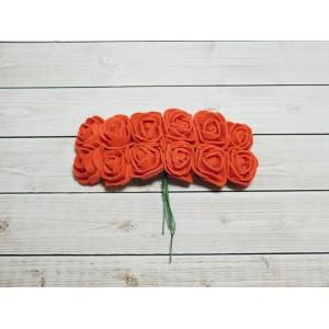 Розы фом, 144 шт. (12 букетов) красный