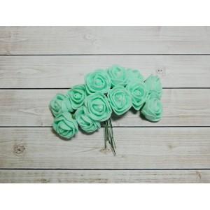 Розы фом, 144 шт. (12 букетов) мятный