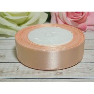 Атласная лента 25 мм, 23 м розовый персик