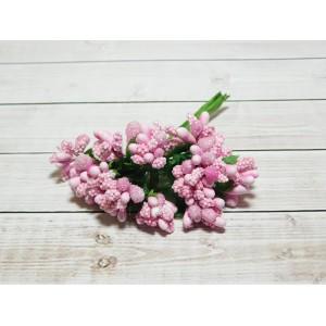 Веточки-тычинки, 144 шт (12 букетов) розовый