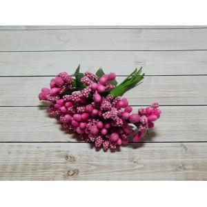 Веточки-тычинки, 144 шт (12 букетов) малиновый