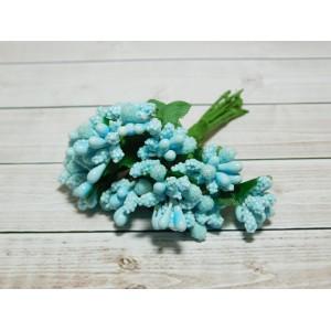 Веточки-тычинки, 144 шт (12 букетов) голубой