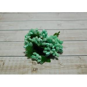 Веточки-тычинки, 144 шт (12 букетов) мятный