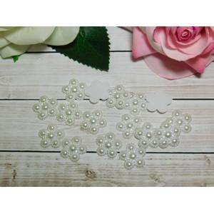 Фигурки из пластика Цветок 17 мм, 100 шт. белый
