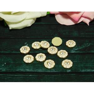 Стразы Цветок с камнем 15 мм, 50 шт.