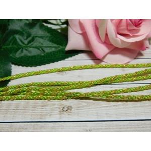 Шнур декоративный витой 3 мм, 10 м зеленый + золото