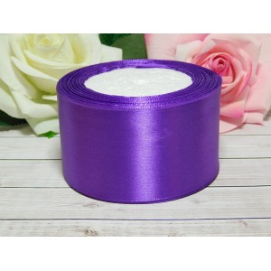 Атласная лента 50 мм, 23 м фиолетовый