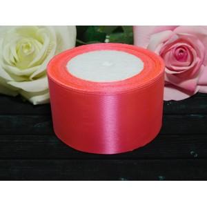 Атласная лента 50 мм, 23 м розовый насыщенный