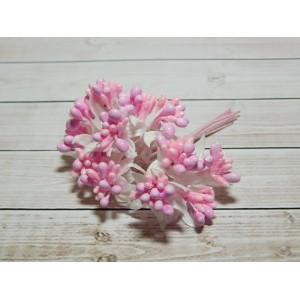 Веточки-тычинки с блестками, 144 шт. (12 букетов) розовый