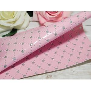 Экокожа Цветок 20*27 см, 1 лист розовый