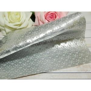 Экокожа Сердце 20*27 см, 1 лист серебро