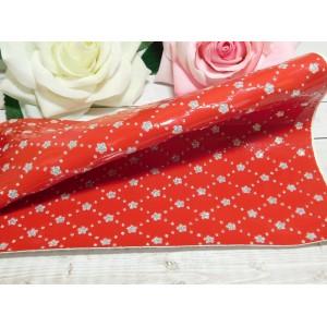 Экокожа Цветок 20*27 см, 1 лист красный