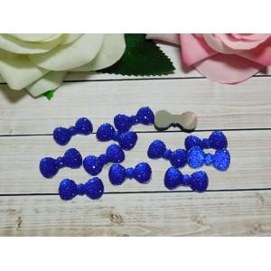 Стразы Бант акрил 12*23 мм, 100 шт., синий