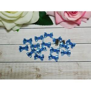 Стразы Бант акрил 13*19 мм, 100 шт., голубой