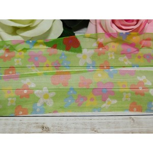 Органза 38 мм с рисунком Цветы, 23 м