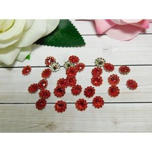 Стразы Цветок акрил 12 мм, 100 шт. красный