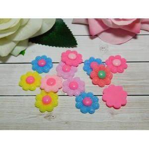 Фигурки из пластика Цветок 23 мм, 50 шт.