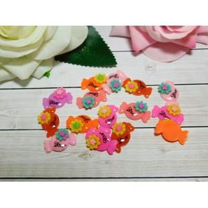 Фигурки из пластика Конфета Love 15*25 мм, 50 шт.