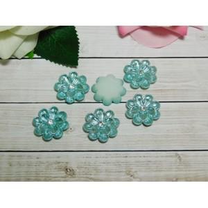 Фигурки из пластика Цветок с камнем 25 мм, 10 шт.