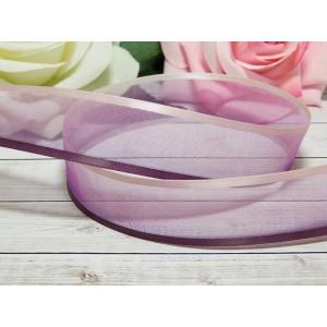 Органза градиент 25 мм, 23 м бело-фиолетовый