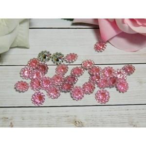 Стразы Цветок акрил 12 мм, 100 шт. розовый